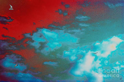Abstract Forms Digital Art - Sky by Carol Lynch