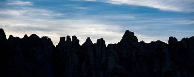 Widescreen Photograph - Sky Castles - The Mojave by Peter Tellone