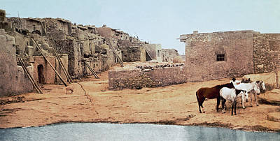 Pueblo Architecture Photograph - Sky City Acoma Pueblo by William Henry Jackson
