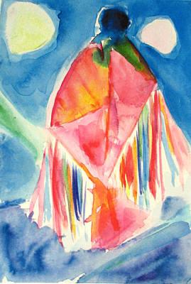 Sacred Feminine Moon Painting - Sky  Dancer by Tolere