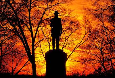 Sky Fire - Flames Of Battle 50th Pennsylvania Volunteer Infantry-a1 Sunset Antietam Print by Michael Mazaika