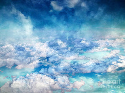 Cloudscape Digital Art - Sky Moods - A View From Above by Glenn McCarthy