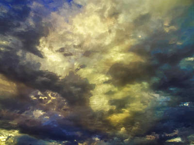 Cloudscape Digital Art - Sky Moods - Abstract by Glenn McCarthy Art and Photography