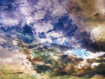 Cloudscape Digital Art - Sky Moods - Sea Of Dreams by Glenn McCarthy