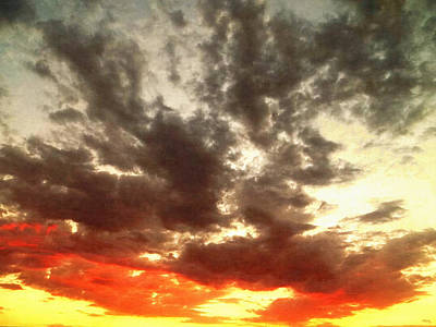 Cloudscape Digital Art - Sky Moods - Stoking The Coals by Glenn McCarthy
