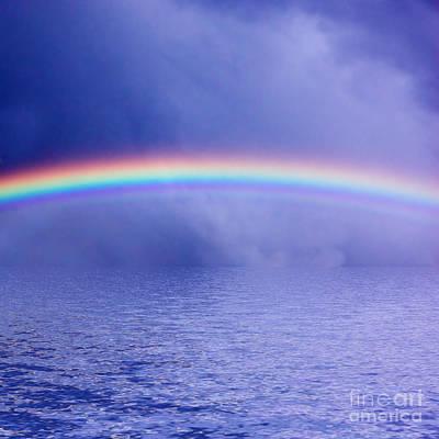 Free Photograph - Sky Rainbow Sea by Michal Bednarek