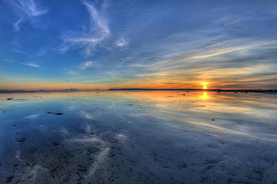 8mm Photograph - Sky Reflection In Boundary Bay by Pierre Leclerc Photography