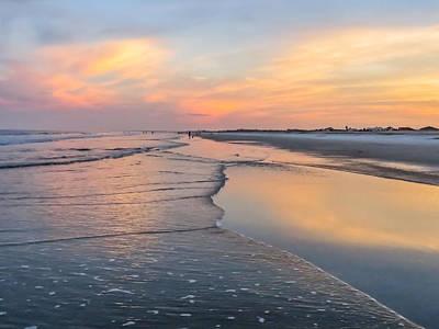 Sky Reflection On The Beach Print by Zina Stromberg