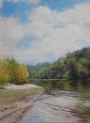 Sky River Trees  Print by Nancy Stutes