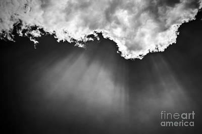 Sun Rays Photograph - Sky With Sunrays by Elena Elisseeva