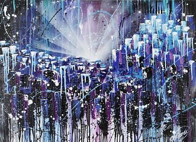 Rays Painting - Skycity  by Aramis Hamer