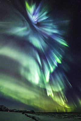 Aurora Photograph - Skyfall II by Frank Olsen