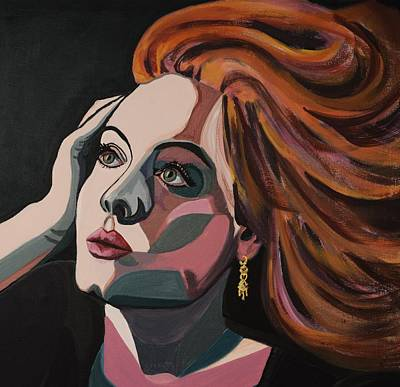 Adele Painting - Skyfall Portrait Crop by Christel  Roelandt