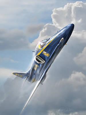 Escort Digital Art - Skyhawk 2 by Peter Chilelli