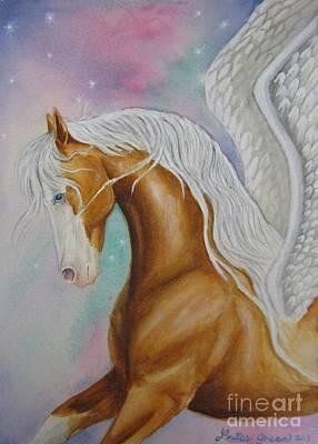 Pegasus Mixed Media - Skyhorse Aurora by Louise Green