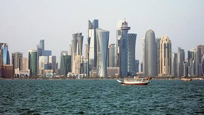 Qatar Photograph - Skyline In Doha by Bob Edwards