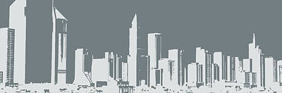 Skyline Number 12 Print by Gina Dsgn