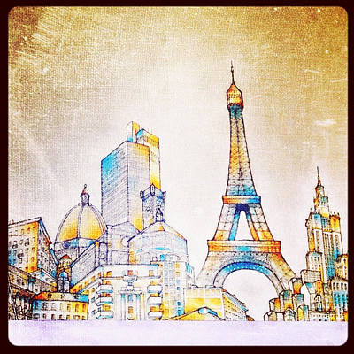 Skyline Of The World Print by Natasha Marco