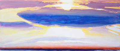 Sun Rays Painting - Skyscape by Lou Gibbs