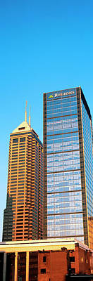 Indiana Photograph - Skyscraper In A City, Indianapolis by Panoramic Images
