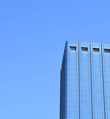 Tampa Skyline Photograph - Skyscraper Photography - Blue On Blue - By Sharon Cummings by Sharon Cummings