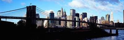 Skyscrapers At The Waterfront, Brooklyn Print by Panoramic Images