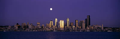 Seattle Skyline Photograph - Skyscrapers At The Waterfront, Elliott by Panoramic Images