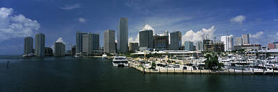 Water Vessels Photograph - Skyscrapers At The Waterfront Viewed by Panoramic Images