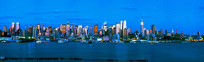 Empire State Photograph - Skyscrapers In A City, Manhattan, New by Panoramic Images