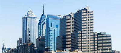 Philadelphia Scene Photograph - Skyscrapers In A City, Philadelphia by Panoramic Images