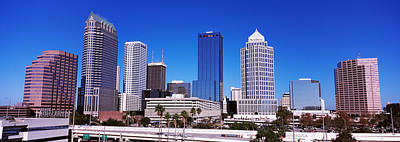Built Structure Photograph - Skyscrapers In A City, Tampa, Florida by Panoramic Images