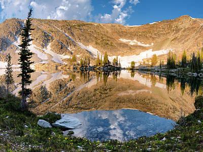 Skytop Lake Reflections Print by Leland D Howard