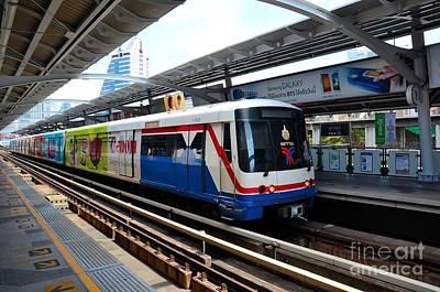 Skytrain Carriage Metro Railway At Nana Station Bangkok Thailand Print by Imran Ahmed