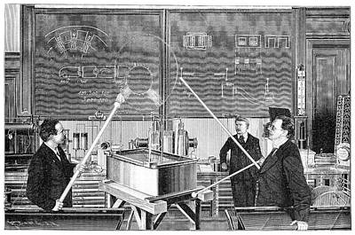 Slaby's Electrotechnical Laboratory Print by Science Photo Library
