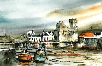 Tour Ireland Painting - Slade Harbour Wexford by Val Byrne