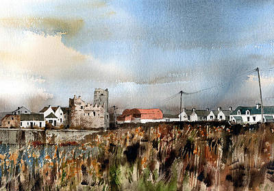 Tour Ireland Painting - Wexford  Slade Village  by Val Byrne