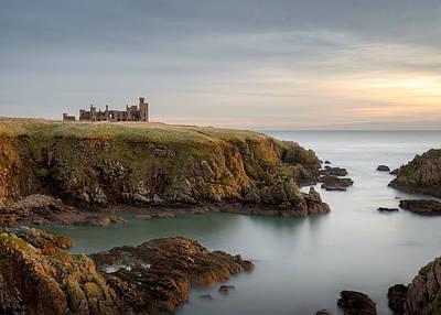 Slains Castle Sunrise Print by Dave Bowman
