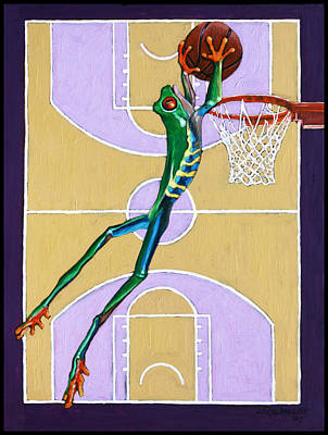 Dunk Painting - Slam Dunk by John Lautermilch
