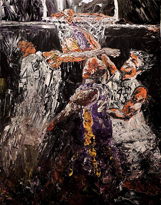 Shooting Guard Painting - Slam Dunk by Mark Moore