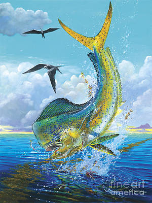 Mahi Mahi Painting - Slammer Off0017 by Carey Chen