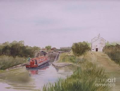Engineering Painting - Slapton Lock by Martin Howard