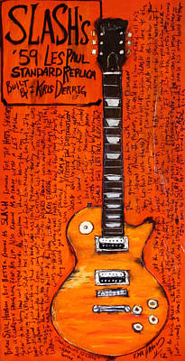 Velvet Revolver Painting - Slash Les Paul Replica by Karl Haglund