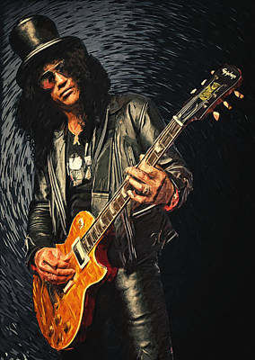 80s Digital Art - Slash by Taylan Soyturk