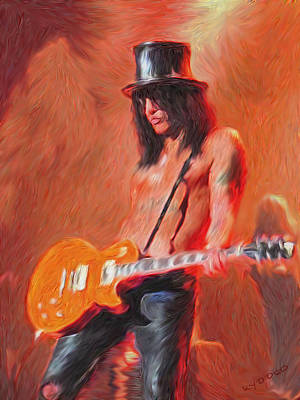 Velvet Revolver Painting - Slash by Tyler Watts - KyddCo