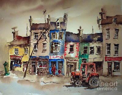 Clare.  Slatts In Ennistymon Print by Val Byrne