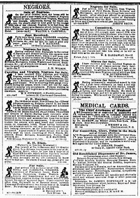 Slave Sales, 1859 Print by Granger