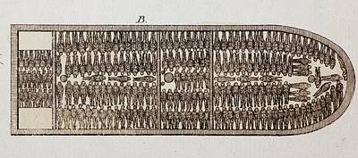 Justin Photograph - Slave Ship Diagram by Paul D Stewart