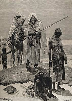 Slave Traders Returning To Timbuktu Print by Everett