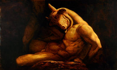 Minotaur Painting - Slaying Of The Minotaur by Guy McIntosh