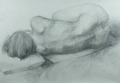 Person Drawing - Sleep by Cynthia Harvey